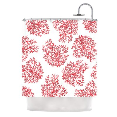 Coral by Anchobee Shower Curtain