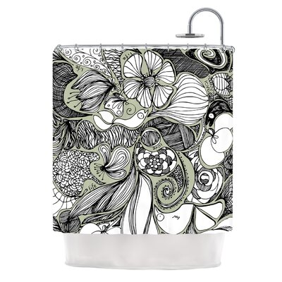 Doodle Dos by Anchobee Shower Curtain