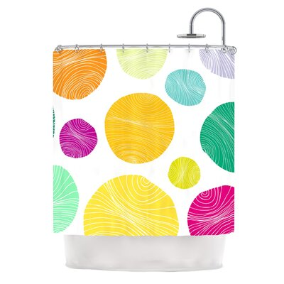 Eolo by Anchobee Circles Shower Curtain