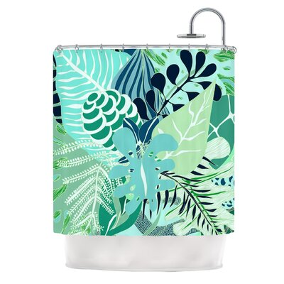 Giungla by Anchobee Floral Shower Curtain