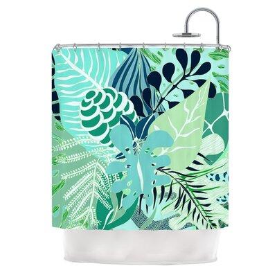 Giungla by Anchobee Floral Shower Curtain