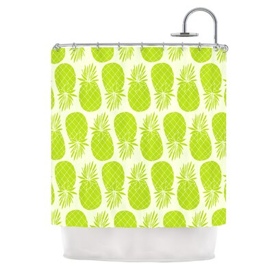 Pinya by Anchobee Shower Curtain Color: Green