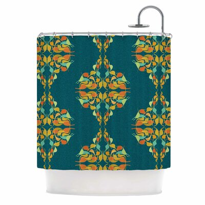Turquoise Feast by Dan Sekanwagi Shower Curtain