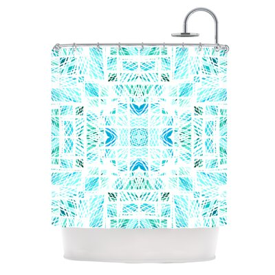 Scandanavian Square by Danii Pollehn Shower Curtain Color: Blue