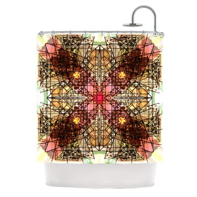 Viereck by Danii Pollehn Geometric Shower Curtain