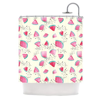 Watermelon by Danii Pollehn Food Shower Curtain