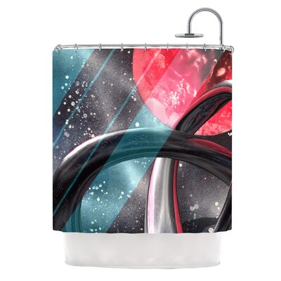 Geometric Mars by Infinite Spray Art Shower Curtain