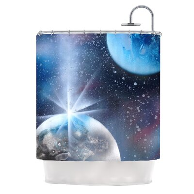 Intergalactic by Infinite Spray Art Painting Shower Curtain