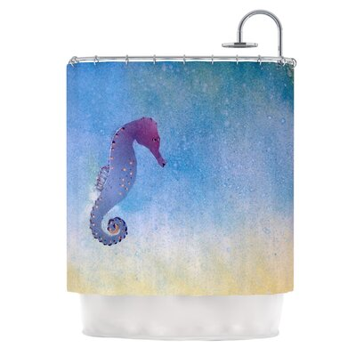 Seahorse by Infinite Spray Art Painting Shower Curtain