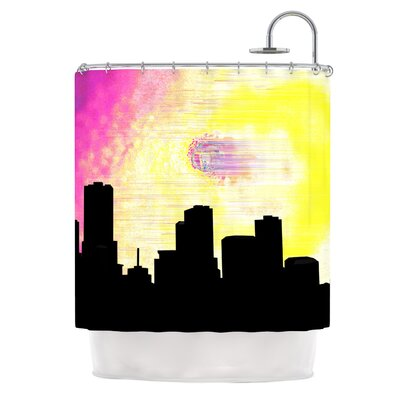 Skylined by Infinite Spray Art Shower Curtain