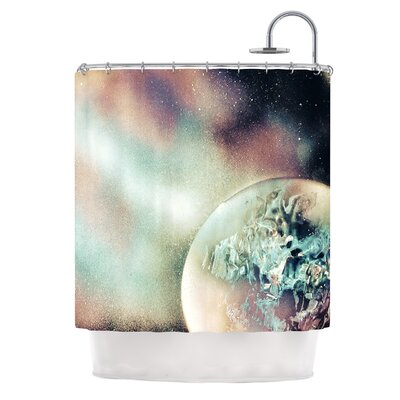 Space Dust by Infinite Spray Art Space Planet Shower Curtain