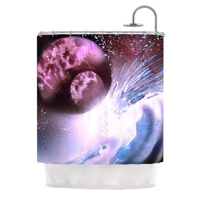 Space Tube by Infinite Spray Art Shower Curtain