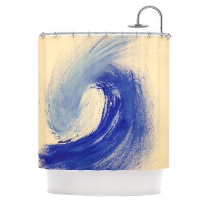 Waveology by Infinite Spray Art Shower Curtain