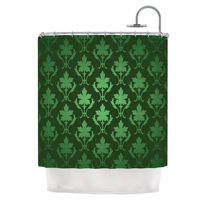 Emerald Damask Shower Curtain