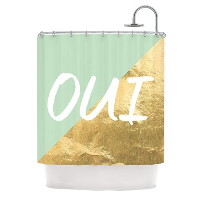 Oui Gold Metallic Shower Curtain