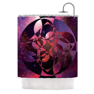 Galactic Brilliance Magenta by Matt Eklund Shower Curtain