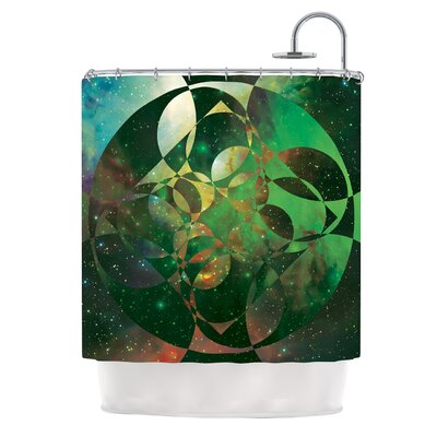 Galactic Brilliance by Matt Eklund Geometric Shower Curtain