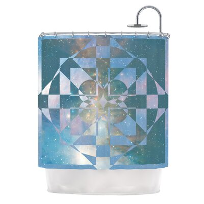 Galactic Hope by Matt Eklund Shower Curtain Color: Aqua/Blue