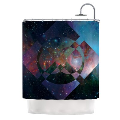 Galactic Radiance by Matt Eklund Shower Curtain Color: Blue/Purple