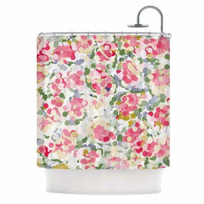 Soft Dots by Matthias Hennig Floral Shower Curtain