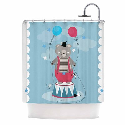 Circus Bear by Michelle Drew Shower Curtain