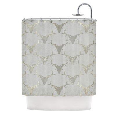 Gilded Stags by Michelle Drew Metallic Shower Curtain