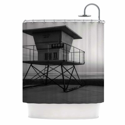 Lifeguard Station At Dusk by Nick Nareshni Shower Curtain