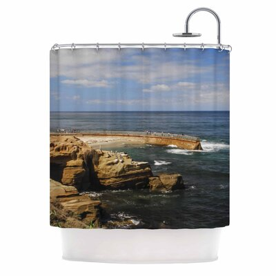 Ocean Jetty by Nick Nareshni Shower Curtain