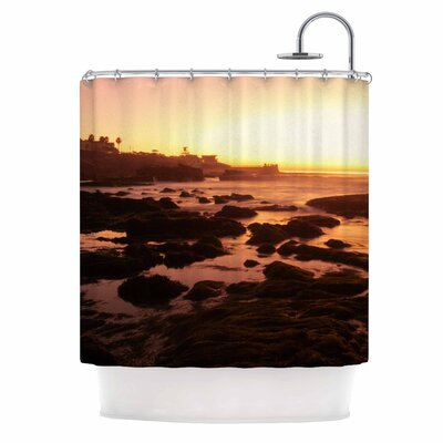 Rocks of La Jolla Sunset by Nick Nareshni Shower Curtain