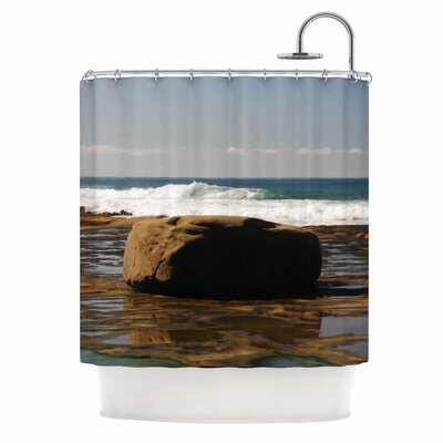 The Lone Rock by Nick Nareshni Shower Curtain