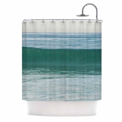 The Lone Wave by Nick Nareshni Shower Curtain