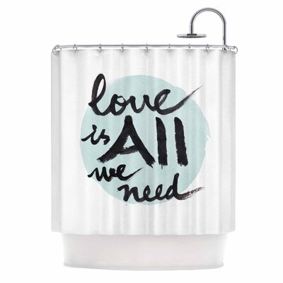 Love Is All We Need by Qing Ji Shower Curtain