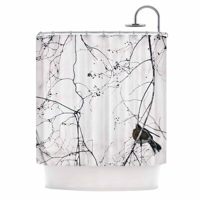 Vintage Bird At Dusk by Qing Ji Shower Curtain