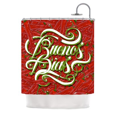 Buenos Dias by Roberlan Good Day Shower Curtain