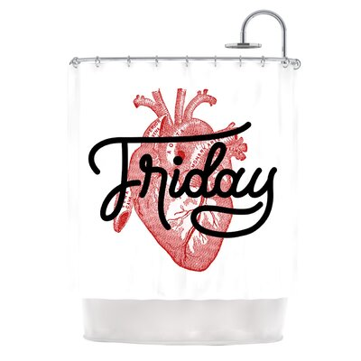 Friday by Roberlan Heart Shower Curtain