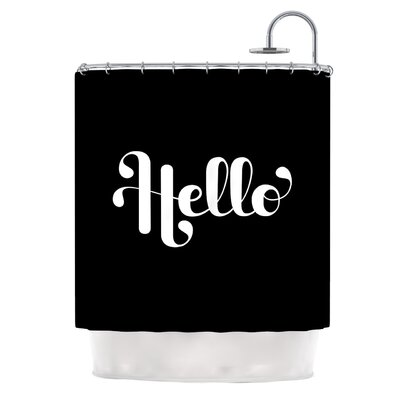 Hello by Roberlan Shower Curtain