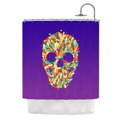 Jelly Skull by Roberlan Shower Curtain