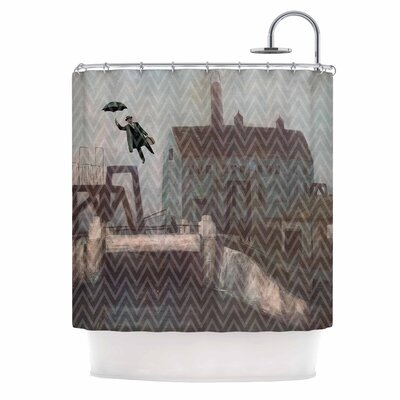 Away by Suzanne Carter Shower Curtain