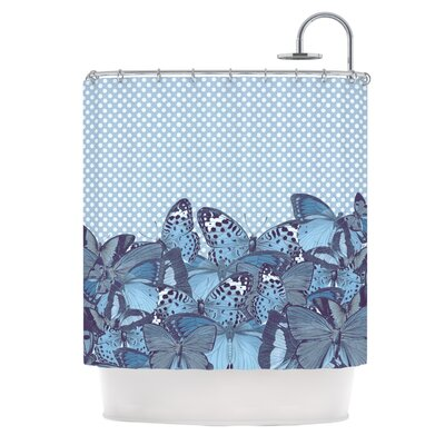Butterfly Blues by Suzanne Carter Shower Curtain