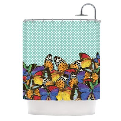 Butterfly Polka by Suzanne Carter Shower Curtain