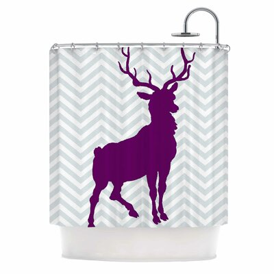 Chevron Deer by Suzanne Carter Shower Curtain