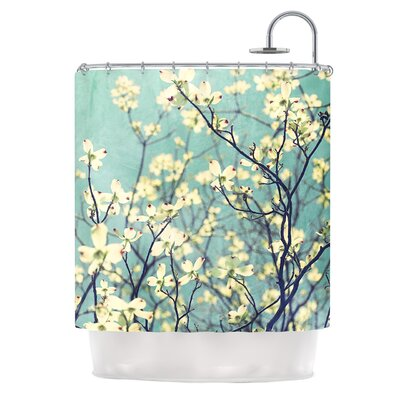 Pure by Ann Barnes Floral Shower Curtain