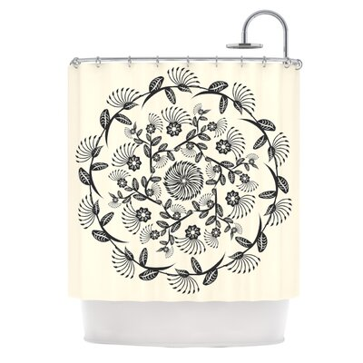 Decorative Mandala by Famenxt Geometric Shower Curtain