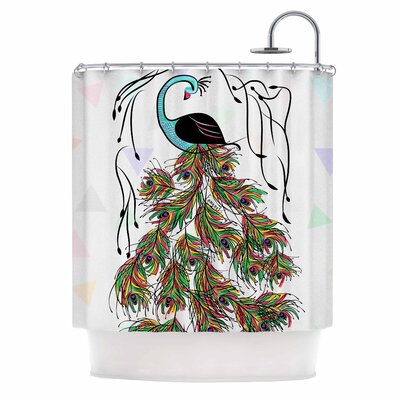 Peacock by Famenxt Shower Curtain
