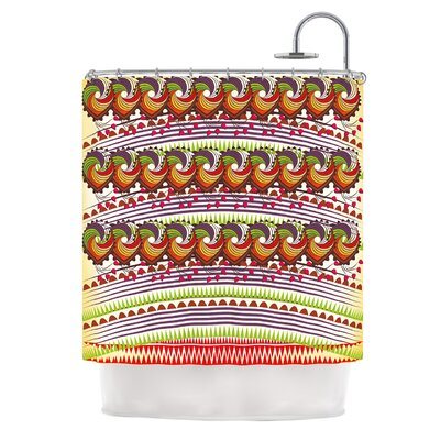 Colorful Traditional by Famenxt Digital Shower Curtain