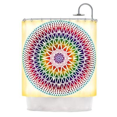 Colorful Vibrant Mandala by Famenxt Geometric Shower Curtain