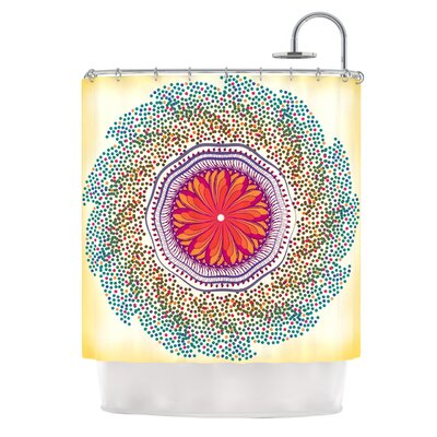 Confetti Dots Mandala by Famenxt Abstract Shower Curtain