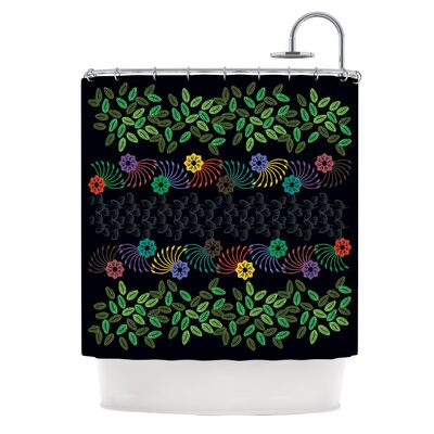 Dark Jungle by Famenxt Shower Curtain