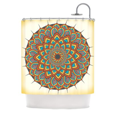 Floral Mandala by Famenxt Geometric Shower Curtain