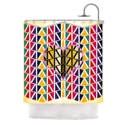 Heart in Abstract by Famenxt Geometric Shower Curtain
